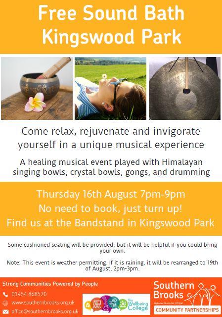 Sound Bath in Kingswood Park