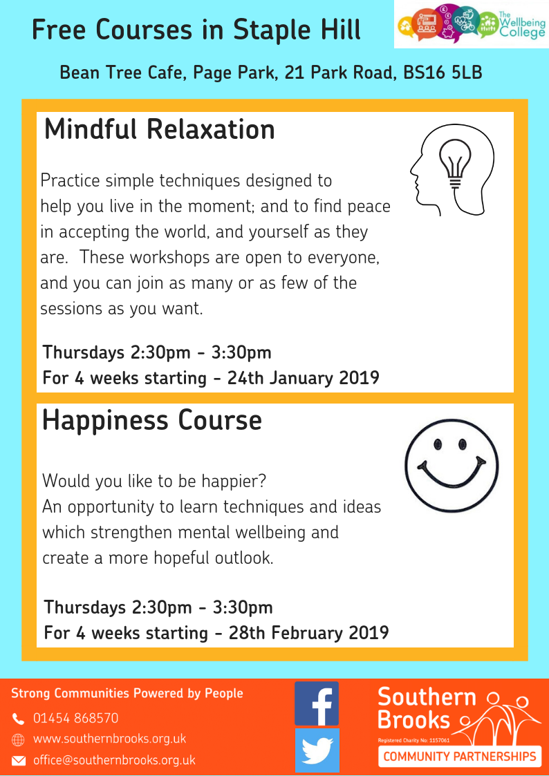 Staple Hill Wellbeing poster - Winter