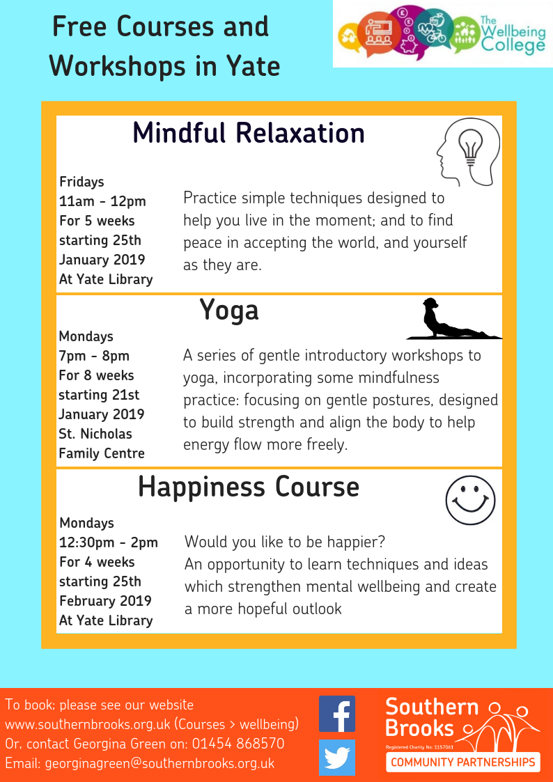 Yate Wellbeing Poster - Winter