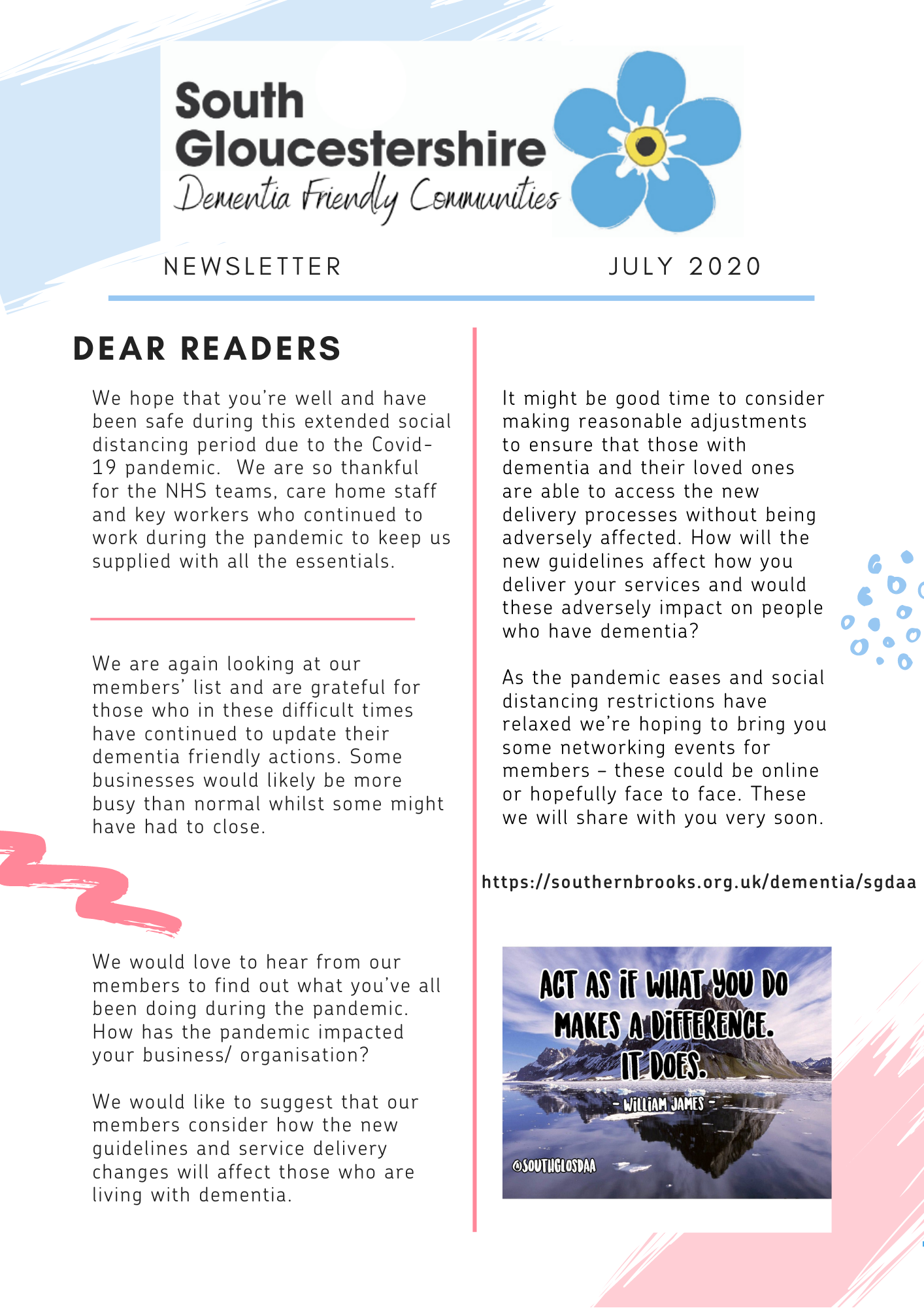 Dementia July newsletter