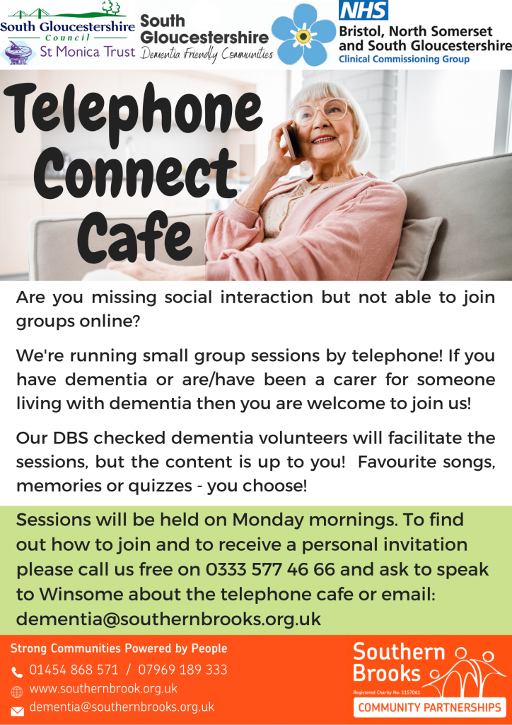 Telephone connect cafe poster